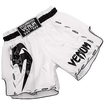 Venum Giant Lightweight Muay Thai Shorts - White/Black