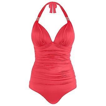 Seaspray 33-2347 Women's Just Colour Coral Pink Shaping Swimsuit