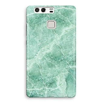 Huawei P9 fuld udskrive sag - grøn marmor