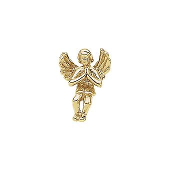 14k Yellow Gold Praying Angel Lapel Pin 12x9mm Jewelry Gifts for Men - 1.2 Grams