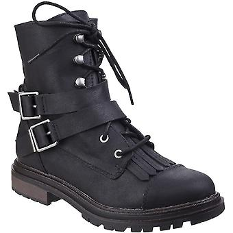 Rocket Dog  Womens/Ladies Lacie Mid Calf Lace Up Buckle Combat Boots