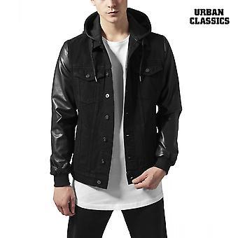 Цикл классики куртка с капюшоном джинсовой имитация кожи