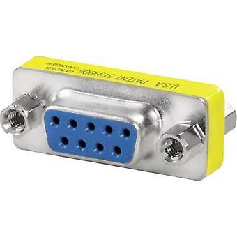 החזית® מחליף מין D-Sub 9-pin, שקע/socket IE-FCI-D9-FF וידולר תוכן: 1 pc (עם)