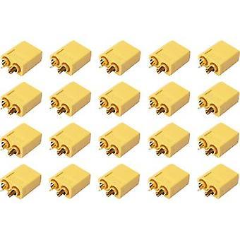 Reely 1399717 Batteriestecker XT60 Vergoldet 20 Stück