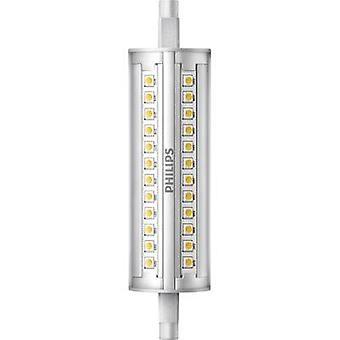 Philips Lighting LED EØF a (en ++ - E) R7s Tubular 14 W = 100 W varm hvit (Ø x L) 29 x 118 mm kan dimmes 1 eller flere PCer