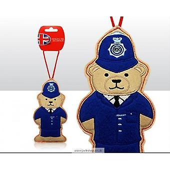 Union Jack porter policier ours Christmas Tree Decoration