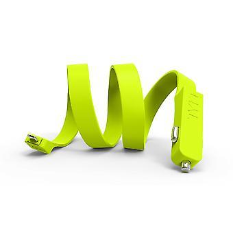 TYLT banda 2' plana de silicona doble carga cargador de coche Micro USB - verde