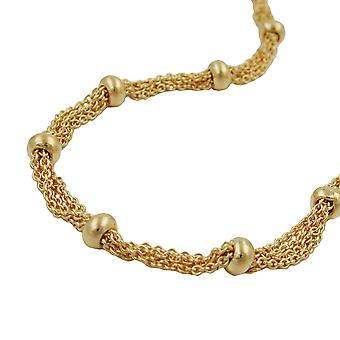 Fantasy chain with 28 balls 4 mm gold plated AMD 50 cm