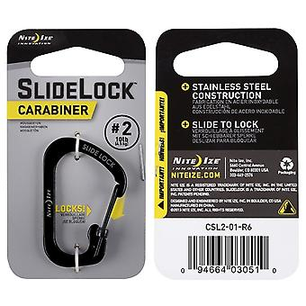 Nite Ize Slidelock Carabiner with Simple Push and Slide Movement 2 Stainless