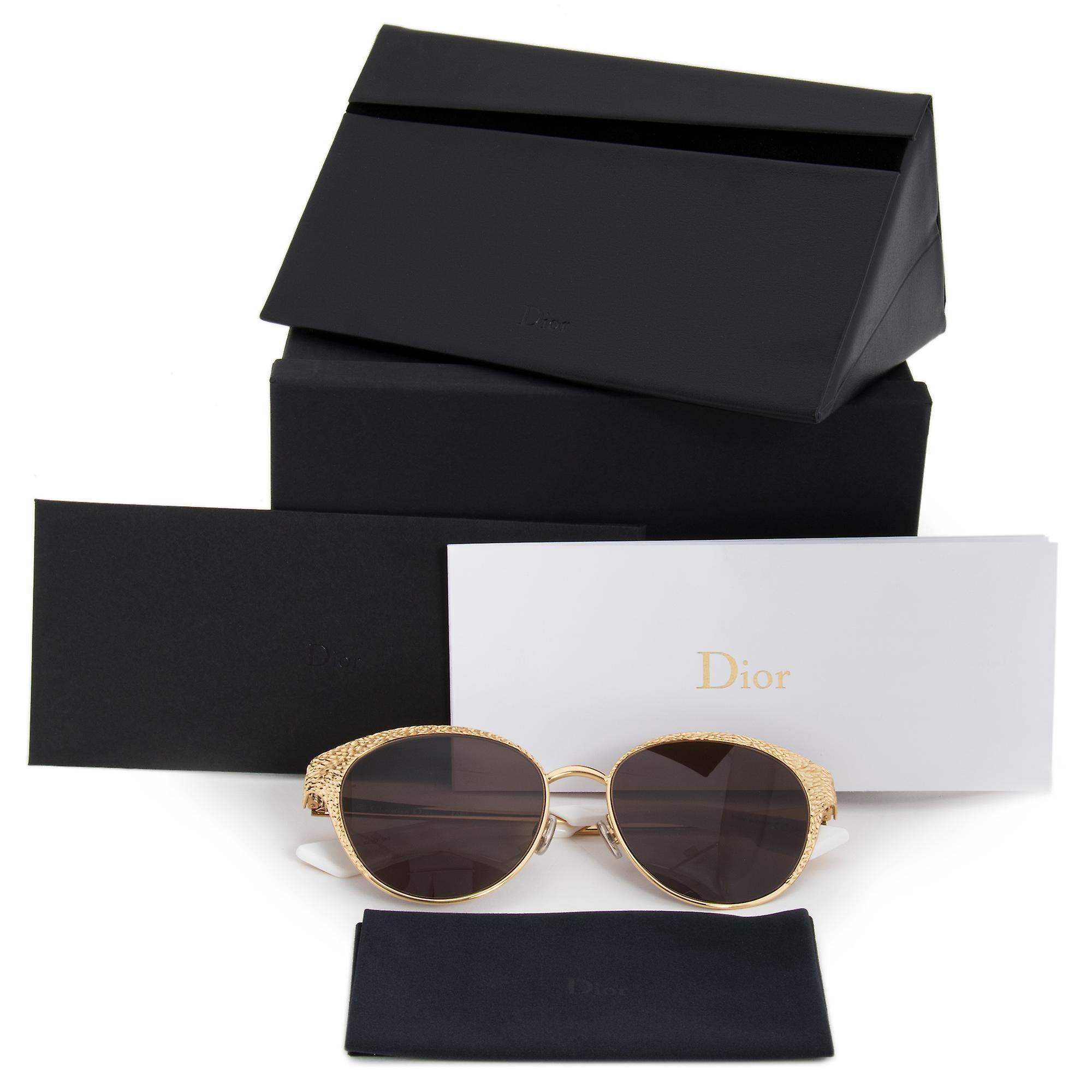 Christian Dior 24 Karat Gold Unique Y3B8E Sunglasses