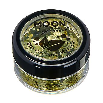 Biodegradable Eco Chunky Glitter by Moon Glitter - 100% Cosmetic Bio Glitter for Face, Body, Nails, Hair and Lips - 3g - Gold