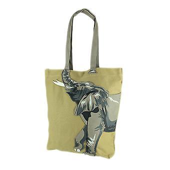 Sleepyvile Critters Ellie Elephant Canvas Tote Bag