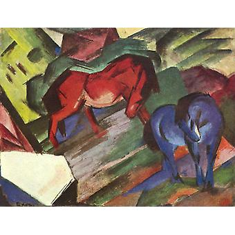 Red and Blue Horse, Franz Marc, 50x40cm