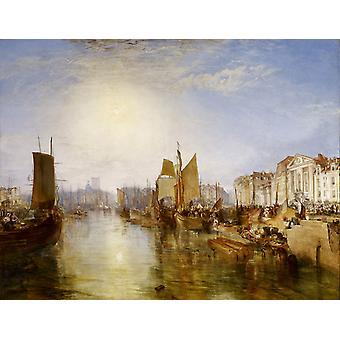 The harbor of dieppe,Joseph Mallord William Turner,50x40cm