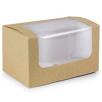 Vegware 堆肥サンドイッチ長方形箱