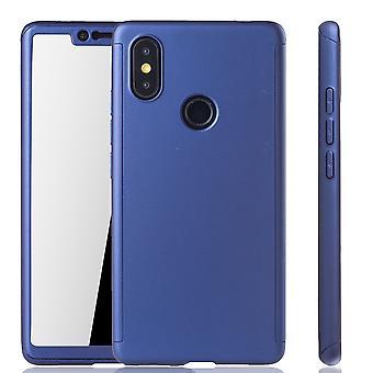 Xiaomi MI 8 SE mobilnych case-futerał pełne pokrycie zbiornik ochrony szkła blue