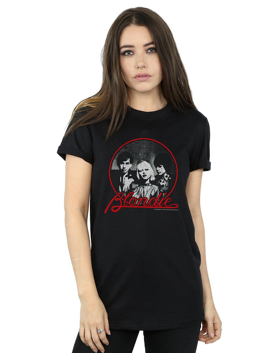 Blondie Women's Distressed Circle Boyfriend Fit T-Shirt