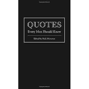 Citat varje Man bör veta