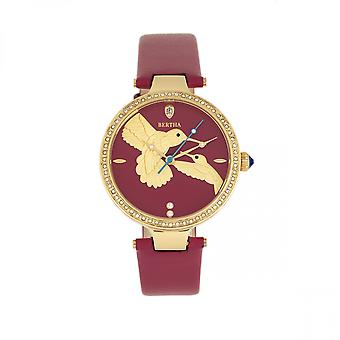 Bertha Nora läder-band Watch-fuchsia