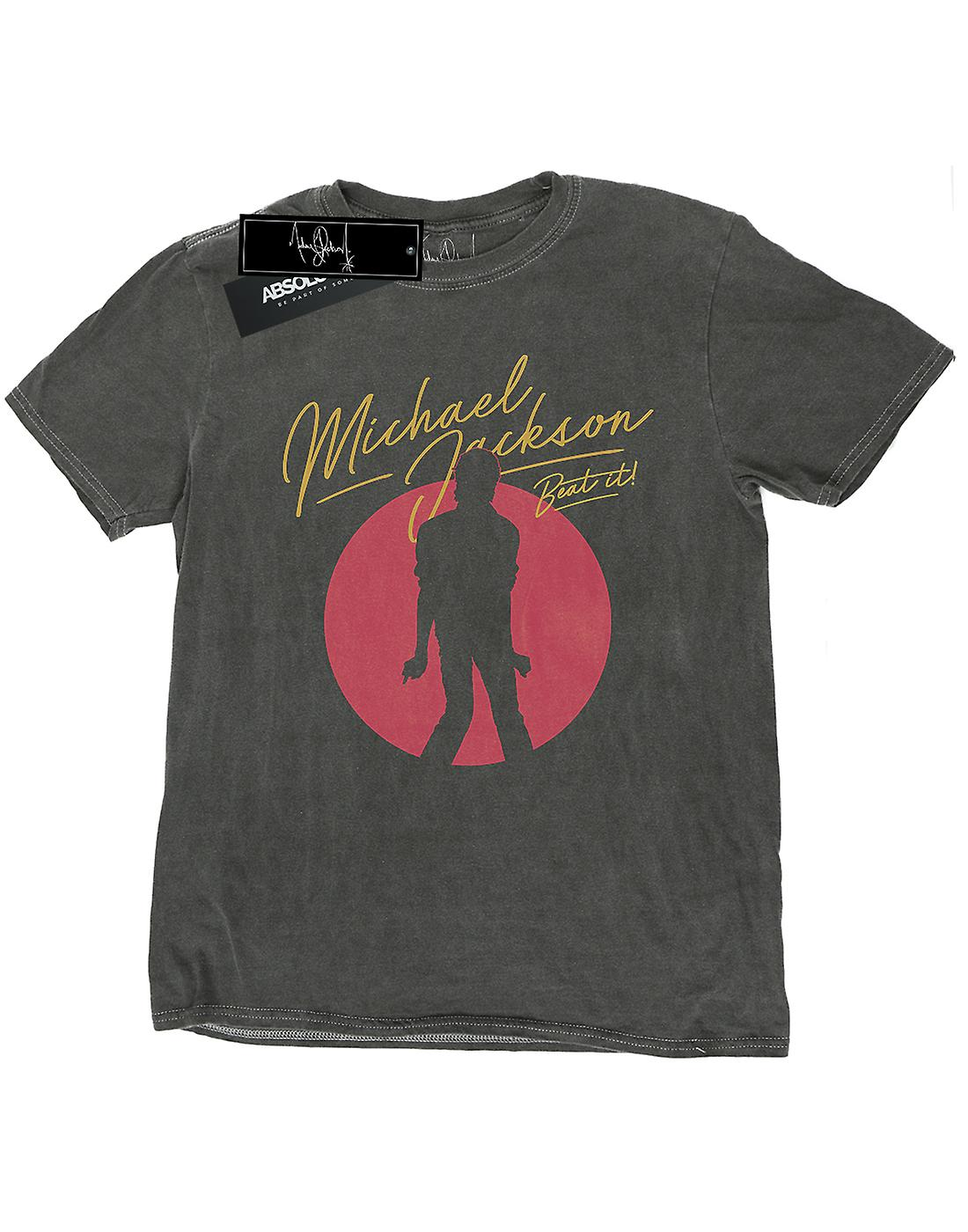 Michael Jackson Men's 80's Photo Washed T-Shirt