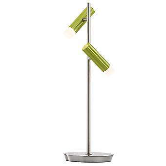 Glasberg-LED asztali lámpa állítható két fény szatén nikkel és zöld 705030402
