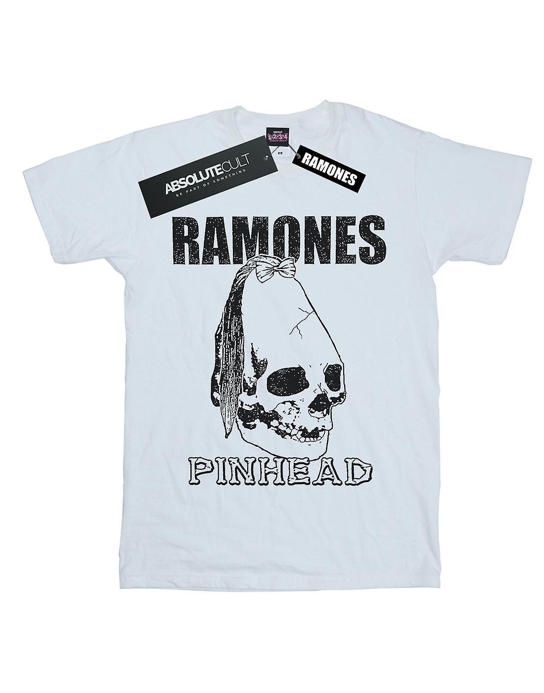 Ramones Women's Pinhead Skull Boyfriend Fit T-Shirt