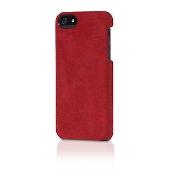 Opprinnelige Alcantara italiensk Design sak for iPhone 5/5s - røde semsket