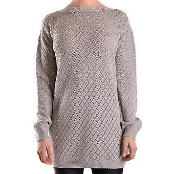 Elisabetta Franchi Ezbc050033 Women's Grey Wool Sweater