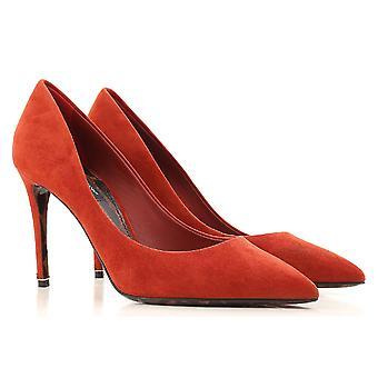 Dolce & Gabbana kvinners høy hæl stiletto Classic pumper i brent semsket skinn