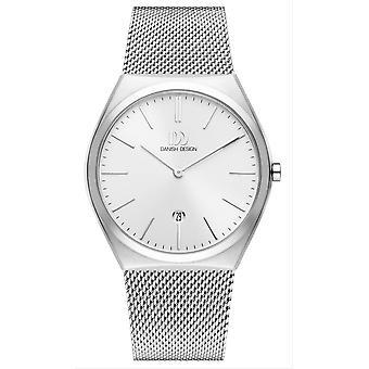 Deens design Tidlos Tasinge groot horloge-zilver