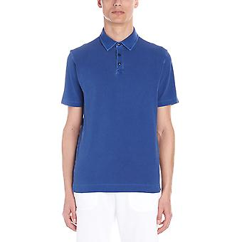 Z Zegna Vs309zz710b06 Men's Blue Cotton Polo Shirt