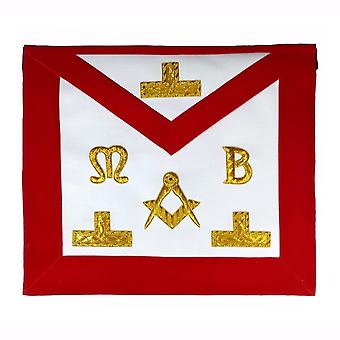 Masonic Hand Embroidered Bullion & Wire Made Master Mason Red Apron