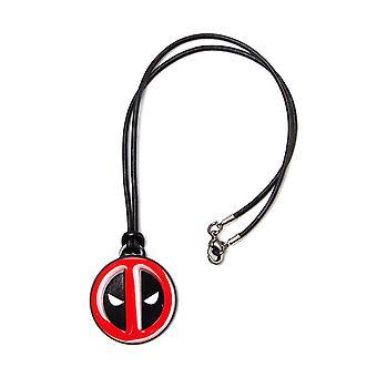 Deadpool Logo Leatherette Cord Necklace