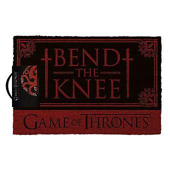 Spel der tronen Targaryen buig de knie deurmat