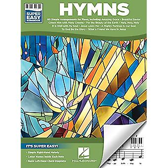 Hymns Super Easy Songbook Easy Piano Book by Hal Leonard Corp - 97814