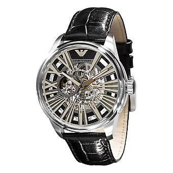 Emporio Armani Ar4629 - Mens Meccanico Automatic Black Strap Watch