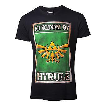 Legenden om Zelda T-skjorte propaganda Hyrule menns medium svart (TS401451ZEL-M)