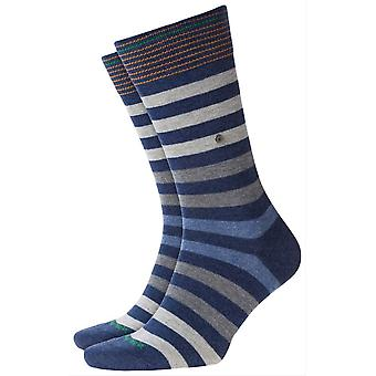 Burlington Blackpool Socks - Blue/Grey