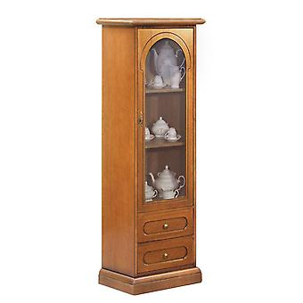 Gabinete de exhibición clásico 1 puerta y cajones individuales