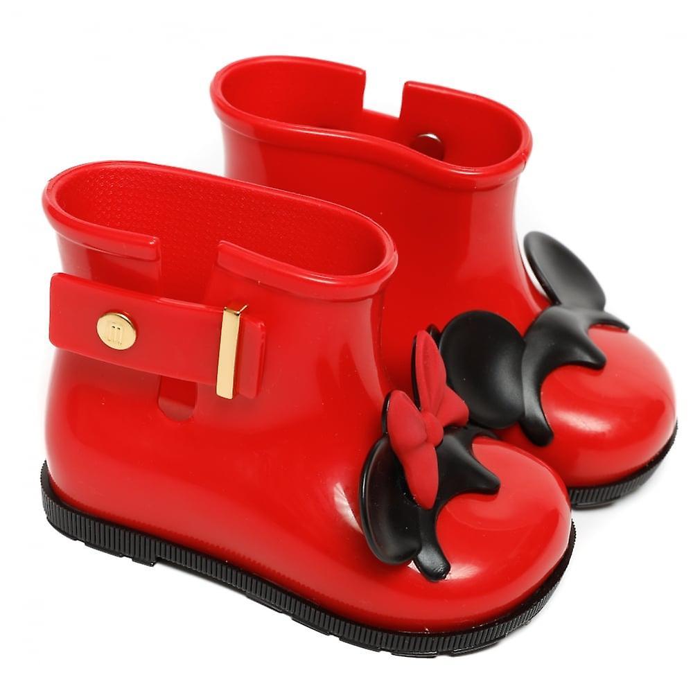 Melissa Shoes Mini Sugar Rain MM Ears Boot, Red