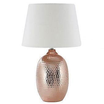 Premier Home Jane bordslampa, keramisk, blandad växt fiber, koppar