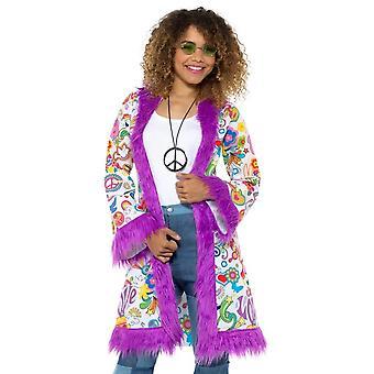 60s Groovy Hippie Coat, 1960's Groovy Fancy Dress, UK Size 8-14