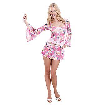 Womens 60er Jahre Chick Fancy Kleid Kostüm