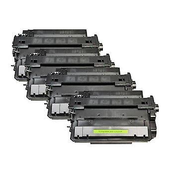 CE255X 55X negro compatible con tóner láser x 4