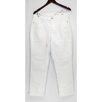 Denim & Co. kvinder ' s jeans Studio klassisk denim hvid A304475