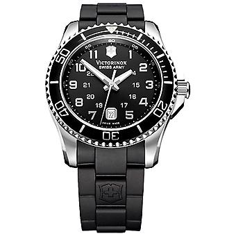 Victorinox Maverick Quartz analog man Watch med V241698 gummi armbånd