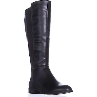 Alfani Pippaa Wide Calf Knee-High Boots, Black, 5 US