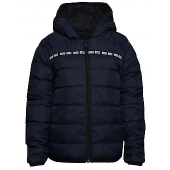 Hugo Boss Boys Hugo Boss Kids Navy/Black Reversible Puffer Jacke