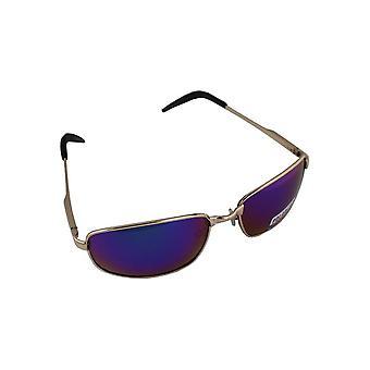 Sunglasses Sport Rectangle polarizing Glass Gold blue multicoloured FREE BrillenkokerS305_5