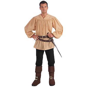 Middeleeuwse Renaissance Knight koning Arthur Prins Men Costume Shirt
